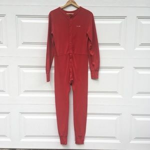Carhartt Union Suit Size M Red One-Piece Romper PJ